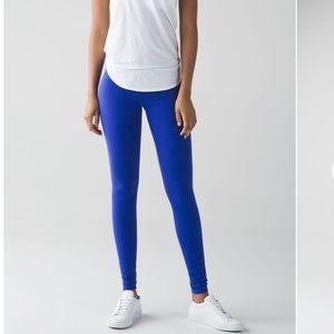 Lululemon wunder under legging yoga pant 4 blue
